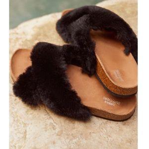 UO Faux Fur Slides